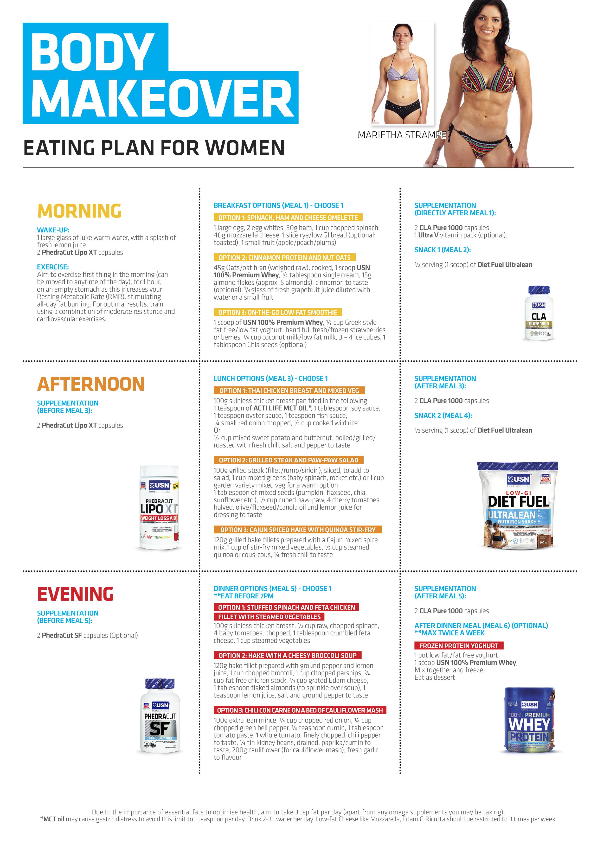 lean muscle diet plan female