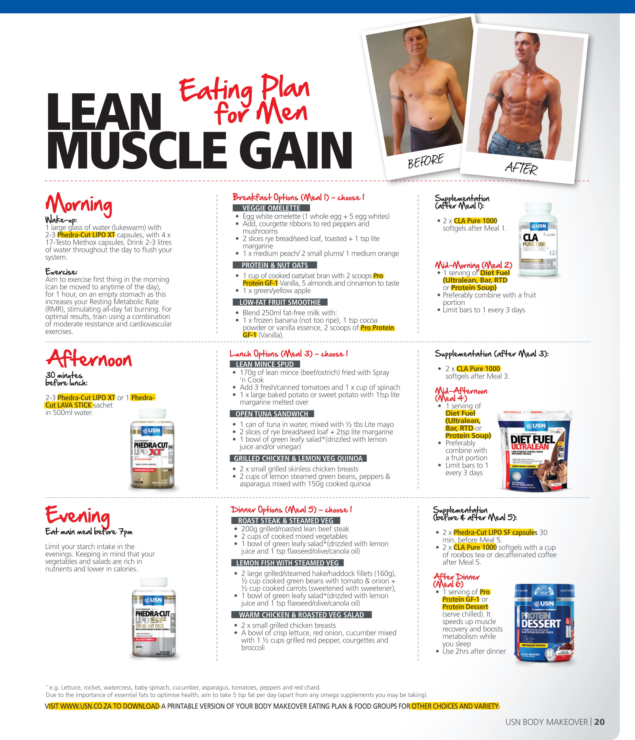Eating diet plan to gain muscle